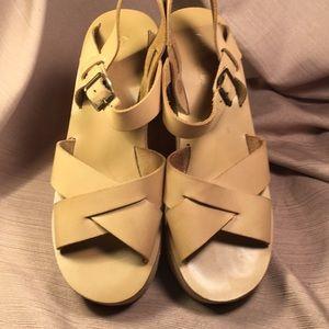 Kork-Ease leather wedge platform sandals